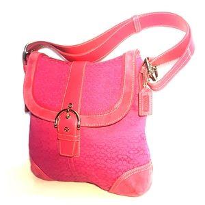 Coach monogram bag in pink